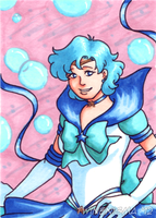 Sailor Mercury Art Card by TwinEnigma