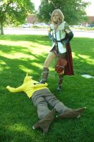 Conquering A Chocobo by kairi-costumes