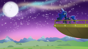 Luna on her balcony by TheShadowStone