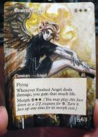 Magic Card Alteration: Exalted Angel 6-16 by Ondal-the-Fool