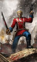 Capitain John Rouse Merriott Caine by warhammer40kcampaign