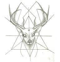 Stag Dotwork thing by UnsightlyVulgarity