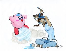 Kirby and Korra - Commission by Oddstuffs