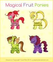 Magical Fruit Ponies [FOR SALE $4 EACH] by yuukipink
