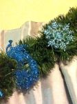 Peacock Christmas Garland Detail 2 by LadyMidnight81