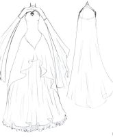 Wedding Dress Design by Rzeznik91