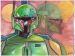 Watercolor Fett by stourangeau