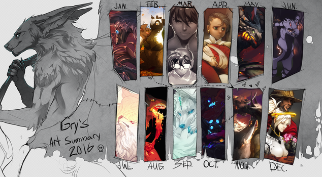 Summary of art 2016 by GryAdventures