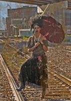 Marie Laveau Voodoo Queen Waiting on the Train by chimeramindstudio