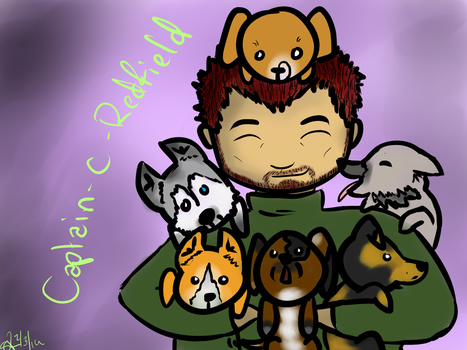Chris and the Floofy Army by blood-covered-devil