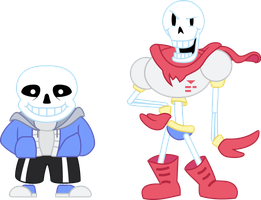 sans and PAPYRUS by Dalekolt