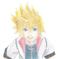 Smile roxas coloured by TopHat-And-Tentacles