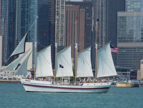 Four Masted Schooner Named Windy by Ariel-Conde