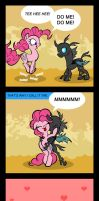 Pinkie vs Changeling by toonbat