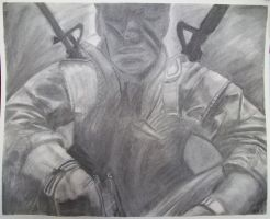 Black Ops cover in charcoal by Little-Shinikami