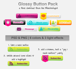 Glossy web button pack by michelledancer