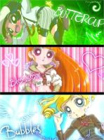PPGZ/ Buttercup.Blossom. Bubbles Super girls by burbujaluxmagic