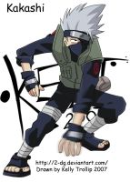 Kakashi Ninja Pose02_cell by Senshee