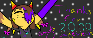 Thanks for 2000 pageviews X3 by AmytheRaichu