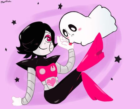 chibi mettaton and blooky by moonplata