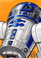 R2D2 Sketch Card by Chad73
