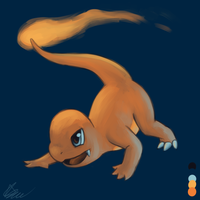 Charmander - Palette Challenge by Rabid-Fangirl212