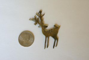 Forest Deer Pendant by MonsterBrandCrafts