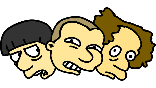 The three stooges Simpsons style by superzachbros123