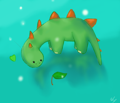 Cute Dino by MidnasFire500