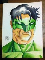 green lantern watercolor by john-galilea