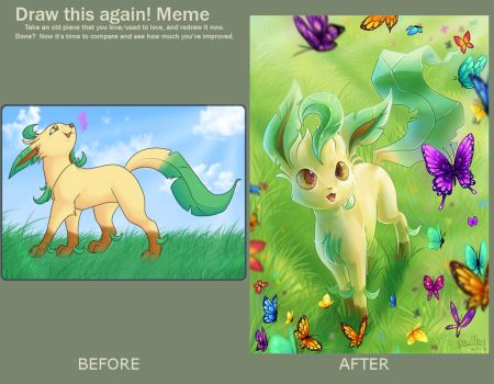Draw this again Leafeon by KaceyMeg
