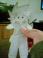 Paper Puppet Gary by peonelopie4