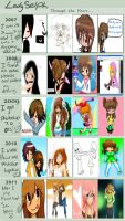 Through the years 2007-2011 by LadySelph