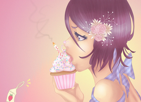 Happy bday Rukia: collab with Paige by mikaorurk