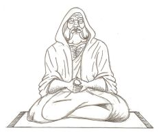 Bodhidharma (pencil) by 305chang