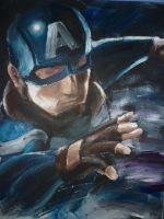 Captain America dual painting p1 by lonedragon155
