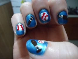 Yamamoto Inspired Nail Art--Right by pockyXbandit