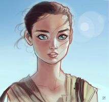 Rey - Star Wars: The Force Awakens by DaveJorel
