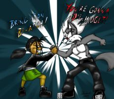 The Wolf vs. Midgets by SupaCrikeyDave