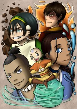 Avatar. The legend of Aang by RakiParra