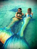 Merbellas and Blue Mermaid by MerBellas