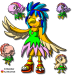 Queen Coo Coo and her Harpy Denizens by G-Bomber