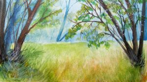 watercolor forest by Gh0st-0f-Me
