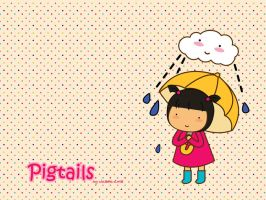 Pigtails: Rainy Days by jazgirl