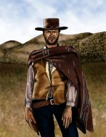 Clint Eastwood by yami73