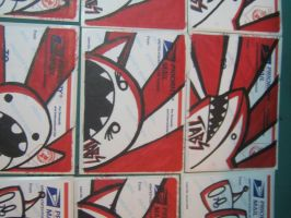 Red White and Black Stickers by Tabs17