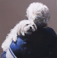 Look a Likes - Pastel Painting by AstridBruning