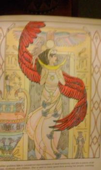 Colored goddess Isis by bbearsgirl