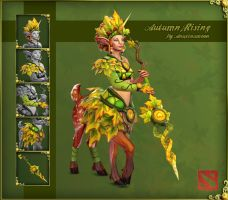 DOTA 2 Polycount - Enchantress Autumn Rising by Anuxinamoon