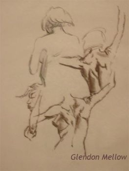 Life Drawing - Female 1 by GlendonMellow